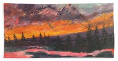Montana Sunset Hand Towel