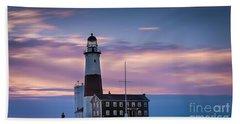 Montauk Lighthousepastel  Sunrise Hand Towel