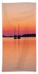 Hand Towel featuring the photograph Montauk Sailboats by Art Block Collections