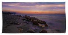 Montauk Sunset Boulders Hand Towel