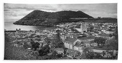 Monte Brasil And Angra Do Heroismo, Terceira Island, Azores Hand Towel by Kelly Hazel
