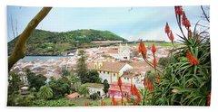 Monte Brasil And Angra Do Heroismo, Terceira Hand Towel by Kelly Hazel