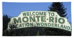 Monte Rio Sign Hand Towel