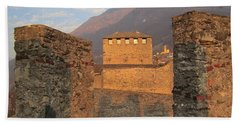 Hand Towel featuring the photograph Montebello - Bellinzona, Switzerland by Travel Pics