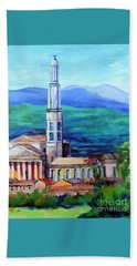 Hand Towel featuring the painting Monteforte D'alpone Italy by Jodie Marie Anne Richardson Traugott          aka jm-ART