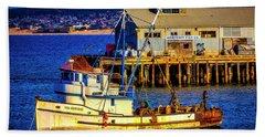 Monterey Bay Fishing Boat Bath Towel