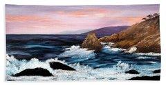 Monterey Sunrise Bath Towel by Laura Iverson