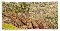 Montezuma Rd Cliff Side Flower Garden Bath Towel