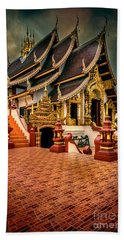 Bath Towel featuring the photograph Monthian Temple Chiang Mai  by Adrian Evans