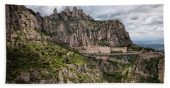 Montserrat Mountains And Monastery In Spain Hand Towel