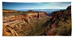 Monument Canyon And Saddlehorn Hand Towel