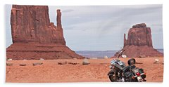 Monument Valley Motorcycle Hand Towel