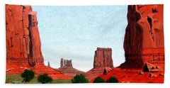 Monument Valley North Window Bath Towel by Mike Robles