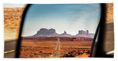 Monument Valley Rearview Mirror Bath Towel