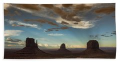 Monument Valley Style Sunset  Bath Towel