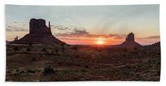 Monument Valley Sunrise  Bath Towel
