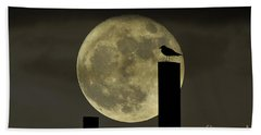 Moody Moonrise Bath Towel
