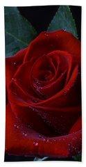 Moody Red Rose Bath Towel