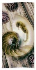 Moody Seahorse Hand Towel by Garry Gay