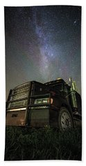 Bath Towel featuring the photograph Moody Trucking by Aaron J Groen