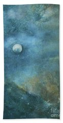 Moon And Earth Hand Towel