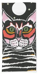 Moon Cat Hand Towel