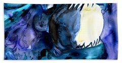 Moon Eater Dragon Lunar Eclipse Hand Towel