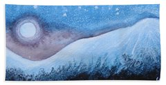 Bath Towel featuring the painting Moon Glow by Margaret Bobb