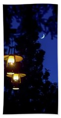 Hand Towel featuring the photograph Moon Lanterns by Mark Andrew Thomas