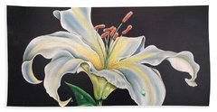 Moon Light Lilly Hand Towel