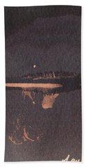 Moon Lit River Bank Hand Towel