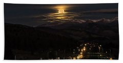 Bath Towel featuring the photograph Moon Over Genessee by Kristal Kraft