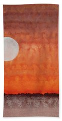 Moon Over Mojave Bath Towel