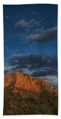 Moon Over Sedona Bath Towel