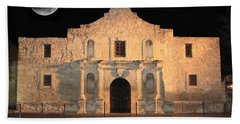 Moon Over The Alamo Hand Towel