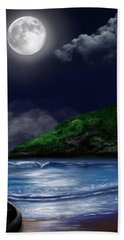 Moon Over The Cove Bath Towel