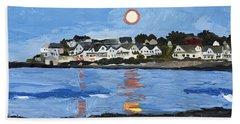 Moon Over York Beach Hand Towel