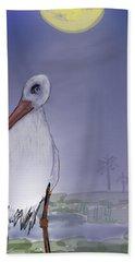 Moon Rise Becomes A Stork Bath Towel