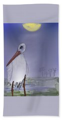 Moon Rise Becomes A Stork Hand Towel