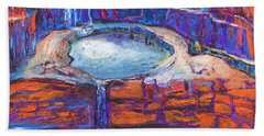 Moon Rising Over The Mitchell Falls Hand Towel