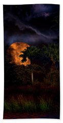 Hand Towel featuring the photograph Moon River by Mark Andrew Thomas