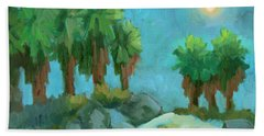 Hand Towel featuring the painting Moon Shadows Indian Canyon by Diane McClary
