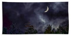 Moon Shine Over The Okanagan Hand Towel