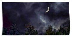 Moon Shine Over The Okanagan Bath Towel