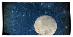 Moon, Tree And Stars Bath Towel