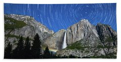 Moonbow And Startrails  Bath Towel