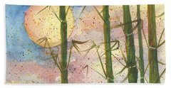 Bath Towel featuring the painting Moonlight Bamboo 2 by Darice Machel McGuire