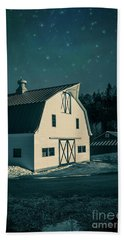 Hand Towel featuring the photograph Moonlight In Vermont by Edward Fielding