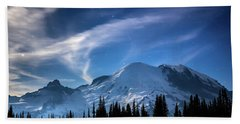 Moonlight On Mt Rainier Bath Towel