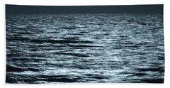 Moonlight On The Ocean Hand Towel by Nancy Landry